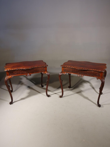 A Very Fine Pair of Late 19th Century Silver Tables