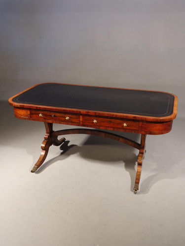 A Fine Regency Period Rosewood End Support Writing Table