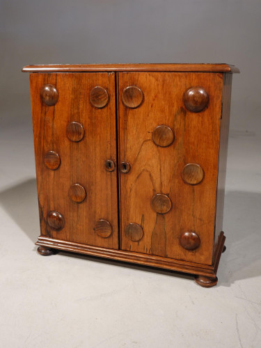 A Fine and Rare Miniature Walnut Collectors' Cabinet