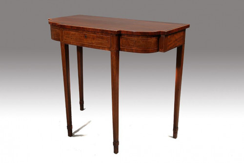 An Elegant George III Period Bow and Breakfront Pier Table