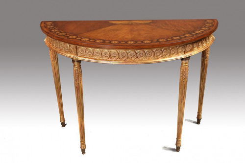 An Fine Quality Early 20th Century Satinwood Pier Table