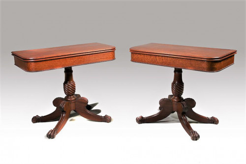 A Fine Pair of Williams and Gibton Regency Period Card Tables