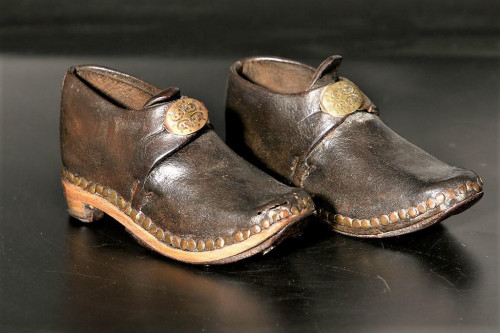 A Charming Pair of Late 19th Century Children's Clogs