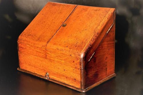 A Late 19th Century Oak Correspondence Box