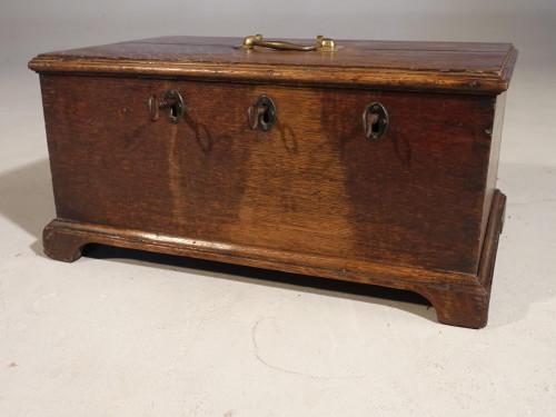 A George III Period Oak Security Box