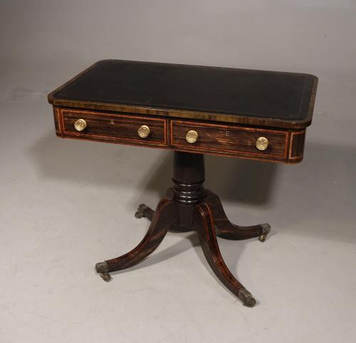 An Elegant 4 Drawer Regency Period Library Table