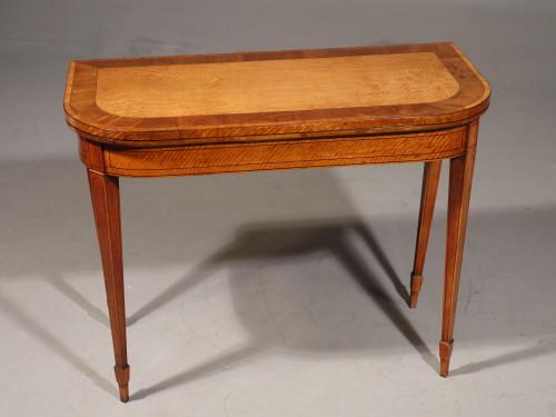 A Very Good George III Period Satinwood Card Table