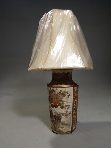 A Good Late 19th Century Japanese Kutani Vase Lamp