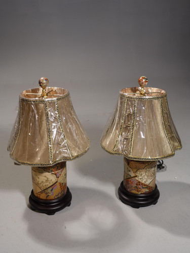 A Fine Pair of Chinese Porcelain Ginger Jar Lamps