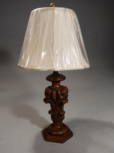 A Mid 20th Century Carved Spanish Lamps