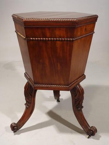 A George III Period Hexagonal Mahogany Wine Cooler