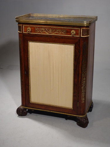 A Very Fine Mid 19th Century Brass Inlaid Rosewood Side Cabinet