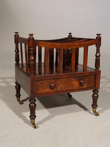 A Regency Period Mahogany Canterbury in the Manner of Gillows