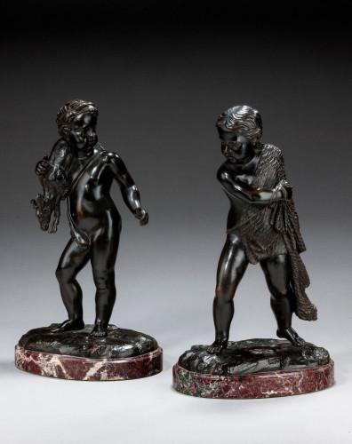 Pair of Mid-19th Century Italian Bronze Figures
