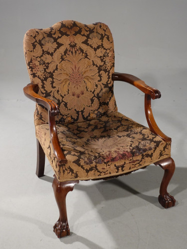 A Substantial Early 20th Century  Gainsborough Style Mahogany Framed Armchair