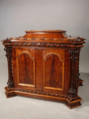 A Remarkable Mid 19th Century Walnut Casket