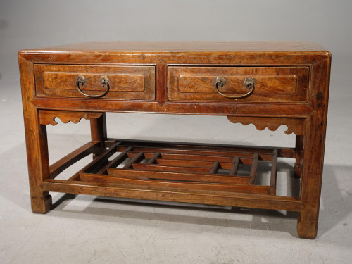 A Neat Mid 19th Century Two Drawer Low Table