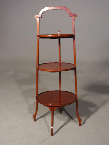 A Good Early 20th Century Mahogany 3 Tier Cake Stand