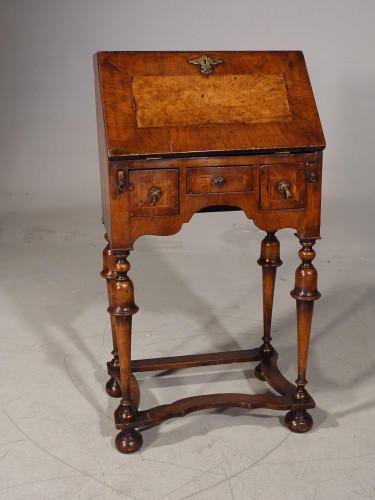 A Charming, Small, William and Mary Style Walnut Bureau