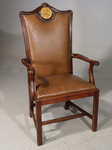 A Late 19th Century Mahogany Masters Chair