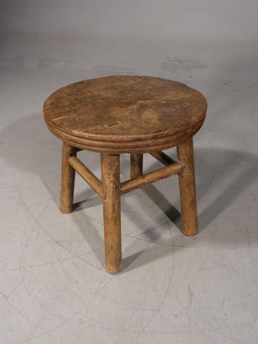 A Mid 19th Century Elm Circular Butchers Table
