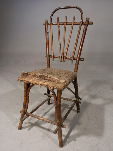 A Primitive Late 19th Century Bamboo Chair