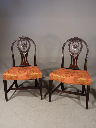 A Good Late 18th Century Pair of Mahogany Hooped Back Single Chairs