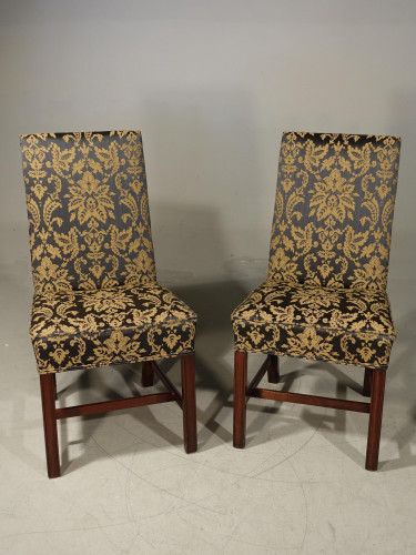 A Most Attractive Pair of Early 20th Century Chippendale Design Single Chairs