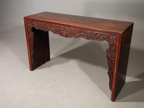 A Slender Mid 19th Century  Oriental Alter Table