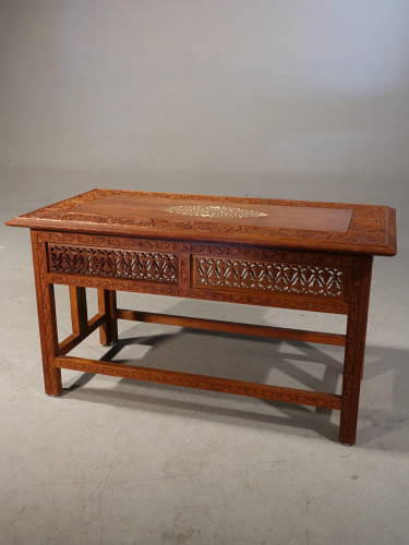 A Beautifully Carved Late 19th Century Eastern Low Table