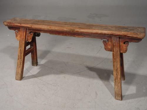 A Very Slender Late 19th Century Elm Stool