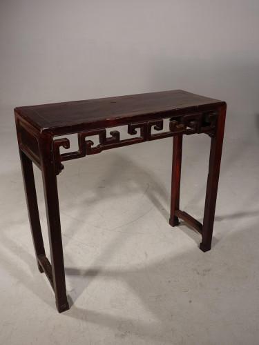 A Slender Late 19th Century Elm Hall Table