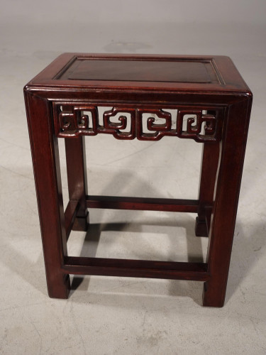 A Good Late 19th Century Hardwood Oriental Low Table