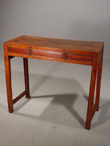 A Late 19th Century Oriental Elm Side Table