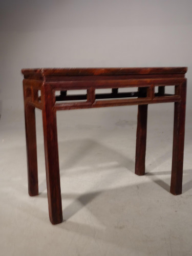 A Late 19th Century Elm Side Table
