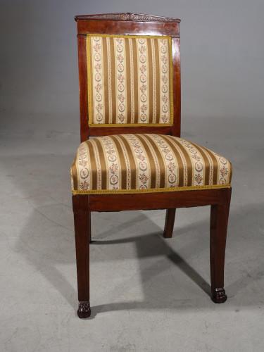 A Good Mid 19th Century French Mahogany Framed Single Chair