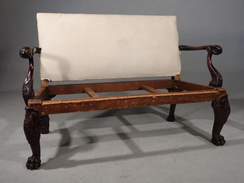 A Good Mid 18th Century Irish Mahogany Sofa