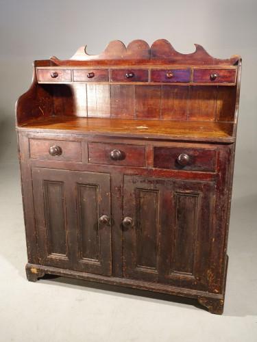 A Unusual, Mid 19th Century, Pine Scottish Dresser