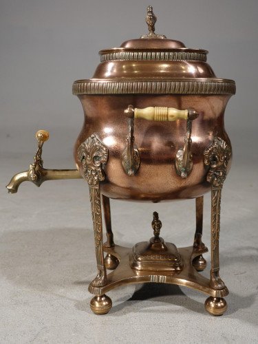 A Handsome and Original Regency Period Copper Tea Urn