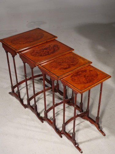 An Elegant Late 19th Century Quartetto of Stacking Tables