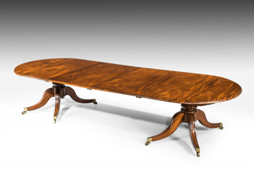A Rare Regency Period Two Pillar Dining Table