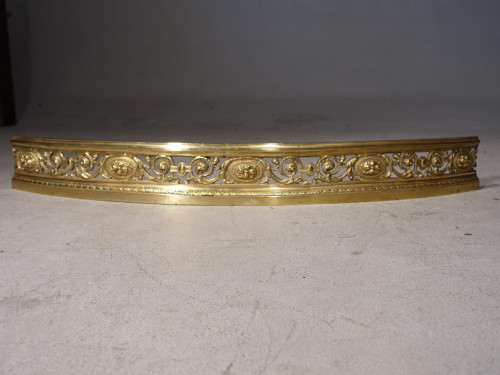 A Late 19th Century Bowed Section of a Pierced and Engraved Fender