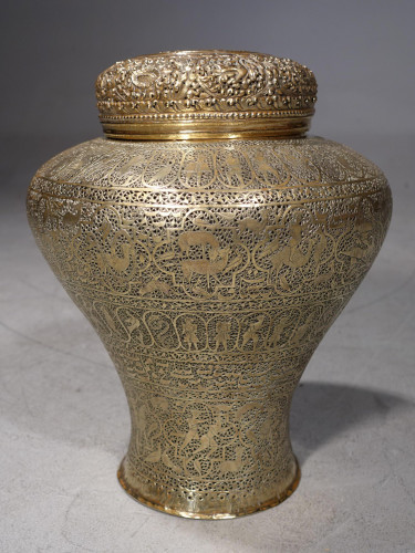 A Good Mid 19th Century Eastern Brass Vase